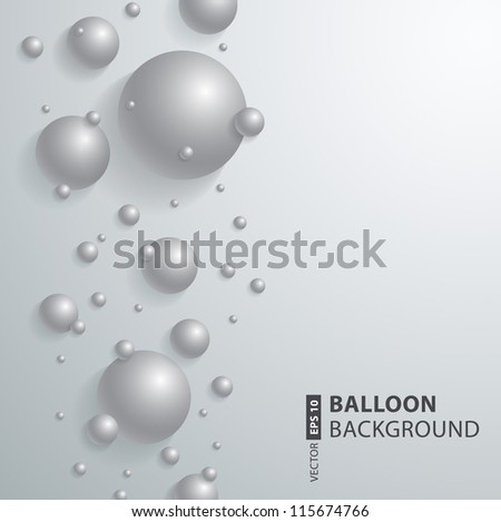 abstract soft vector background design. vector Spheres.