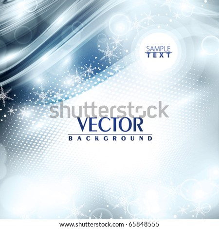 Abstract soft winter background. Vector - stock vector