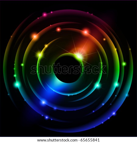 Abstract Solar system. Vector illustration on black #4 - stock vector