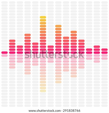 Abstract sound waves equalizer. Audio pulse music design. Vector illustration - stock vector