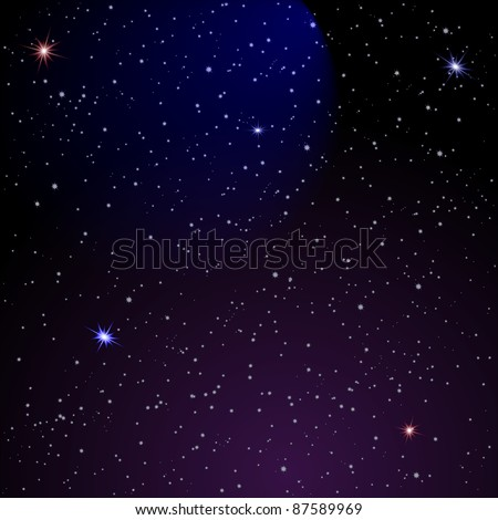 Abstract Space background. Vector illustration - stock vector