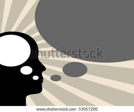 Abstract speaker silhouette, vector illustration - stock vector