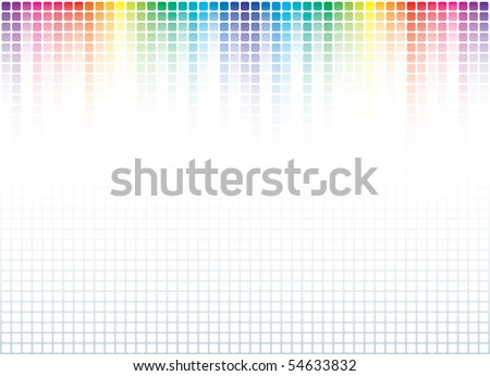 Abstract Spectrum Background (editable vector) - stock vector