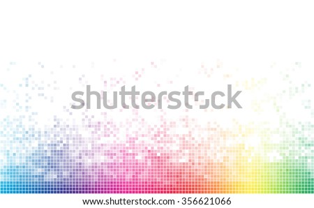 Abstract spectrum colorful bottom mosaic with white copy space. - stock vector