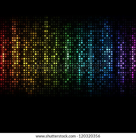 Abstract spectrum dark background with colored sparkles. EPS10 vector. - stock vector