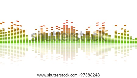 abstract spectrum white background with color equalizer vector - stock vector