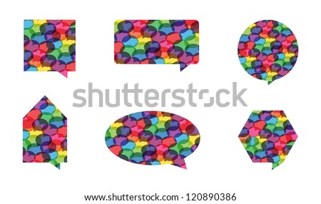 Abstract Speech Bubble Shapes Vector