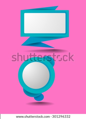 Abstract speech bubble vector background - stock vector