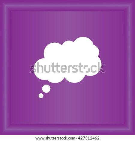 Abstract speech bubbles in the shape of clouds used in a social networks - stock vector