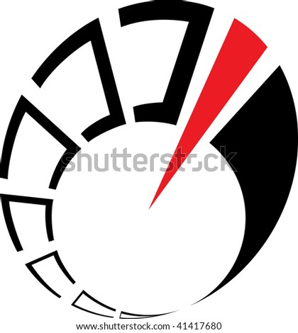 Abstract speedometer - stock vector