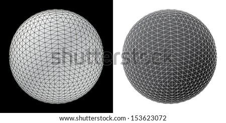 Abstract spheres vector illustration.