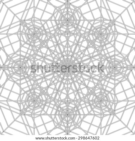 Abstract Spider Web Construction Structure Vector 334 - stock vector