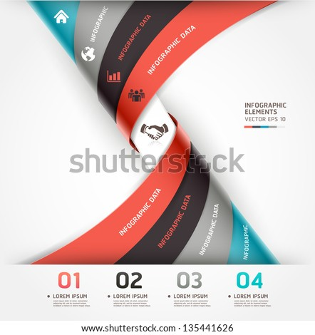 Abstract spiral infographics options banner. Vector illustration. can be used for workflow layout, diagram, number options, web design. - stock vector