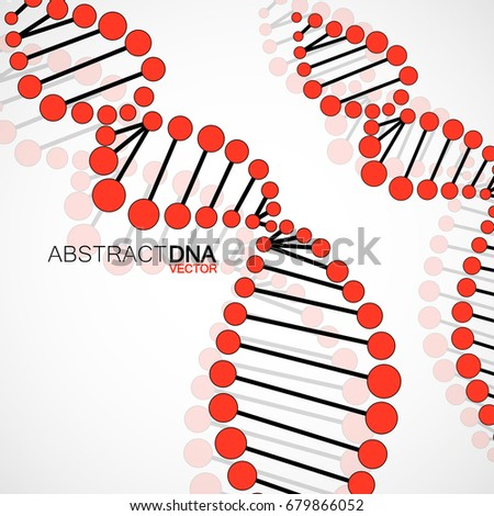 Abstract spiral of DNA, molecular background, vector illustration, eps 10
