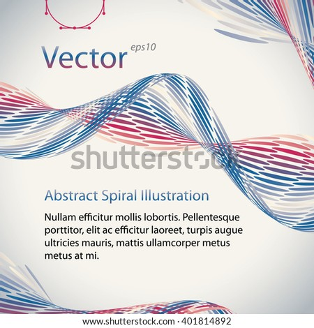 Abstract Spiral vector colourful Illustrations with place for text. Background design template is well done for Graphic Design,  Party Flyers, Business Presentation, Posters.  - stock vector