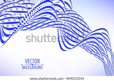 Abstract spiral wave background. Vector illustration. - stock vector