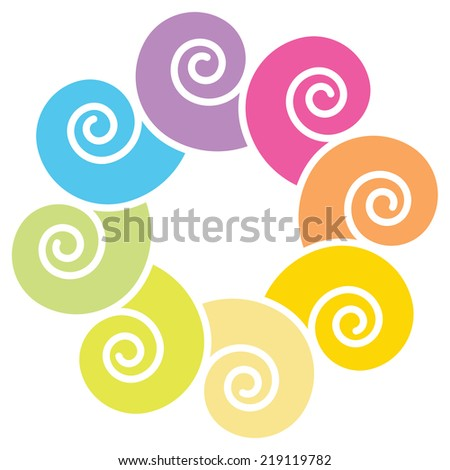 Abstract spirals - stock vector