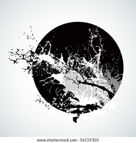 Abstract splash - stock vector