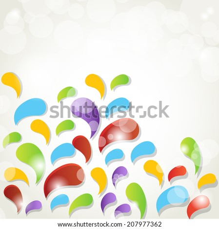 Abstract  splash vector background - stock vector