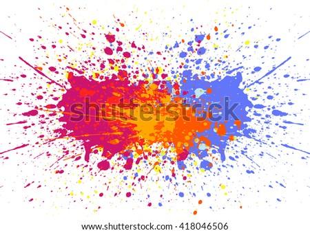 Abstract splatter color background. illustration vector design - stock vector