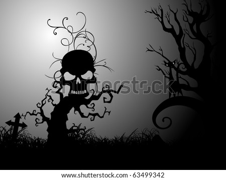 abstract spooky background for halloween celebration - stock vector