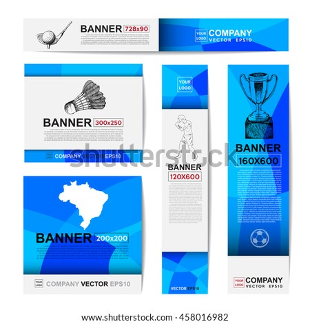 Abstract sport banner for Website Ads.Ratio,728x90,300x250,200x200,120x600,160x600