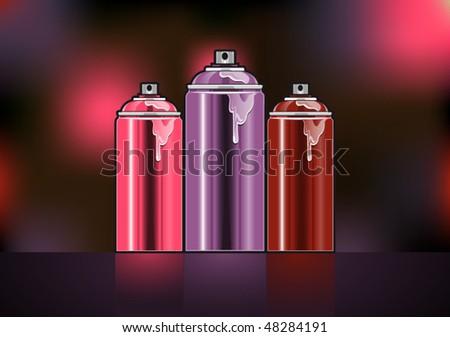 Abstract spray can. Vector illustration - stock vector