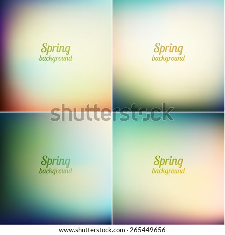 Abstract spring backgrounds set - eps10  - stock vector