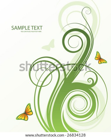 abstract spring floral background with space for your text