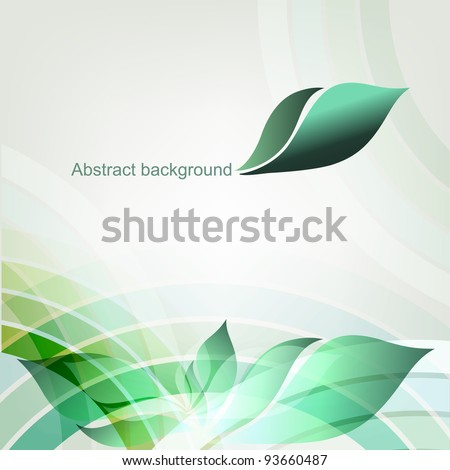 Abstract spring geometric background with place for text. Part of set. Vector art.