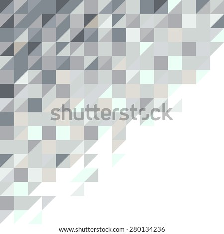 abstract square and triangle pixel background in blue toned