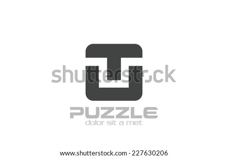 Abstract Square Black Box Logo design vector template. Real Estate Construction Architecture Logic logotype concept icon. - stock vector