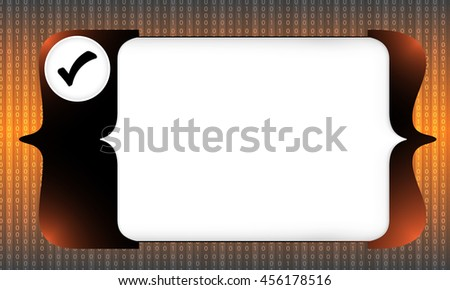 Abstract square brackets for entering text and check box - stock vector