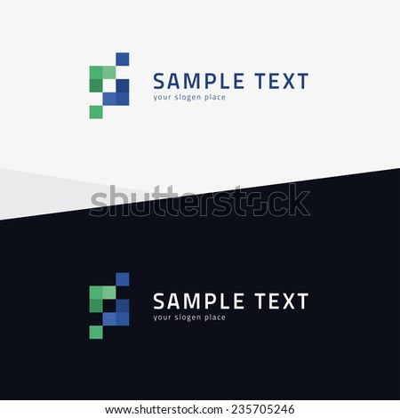 Abstract square business icon - eps10 vector illustration - stock vector