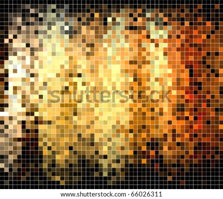 abstract square pixel mosaic background - stock vector