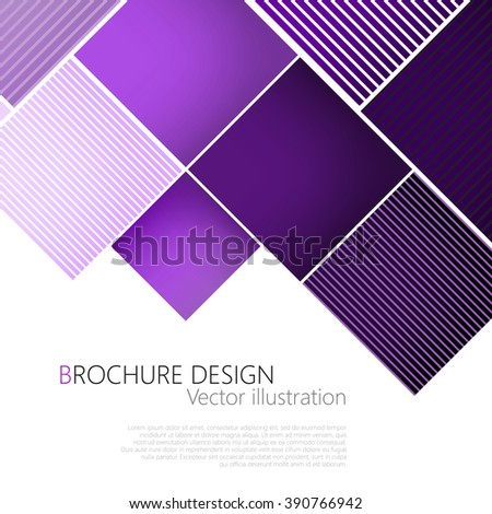 Abstract square purple background. Vector Illustration. Clip-art