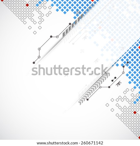 Abstract square technology background. Vector