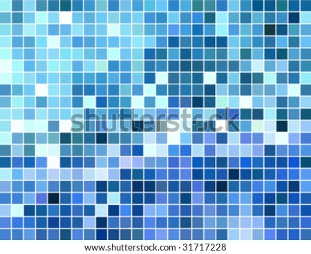 abstract square tiled block mosaic background, vector illustration