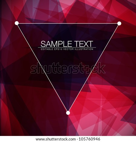 Abstract square vector background for Your Text - stock vector