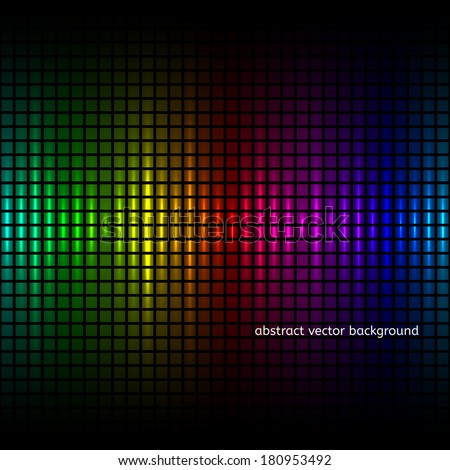 Abstract squares equalizer background. Vector