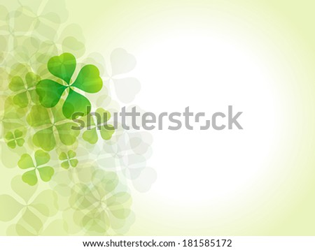 abstract st patrick background vector illustration - stock vector