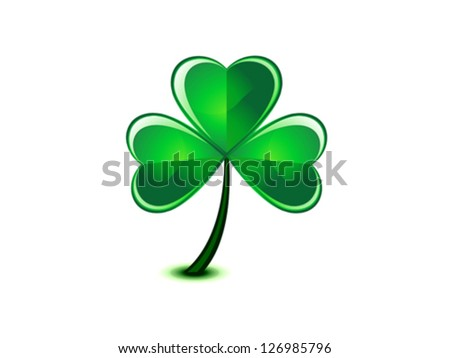abstract st patrick clover vector illustration - stock vector