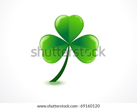 abstract st patrick  day vector illustration - stock vector