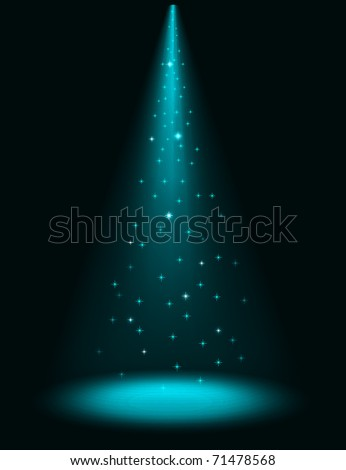 Abstract stage sparkling spotlight vector background. EPS10 file. - stock vector