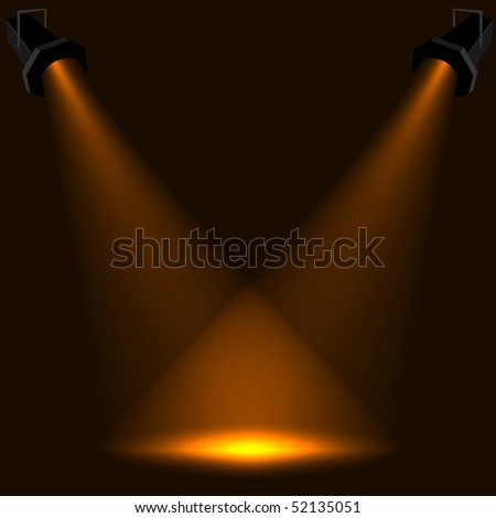 Abstract stage spotlight vector background. EPS10 file. - stock vector