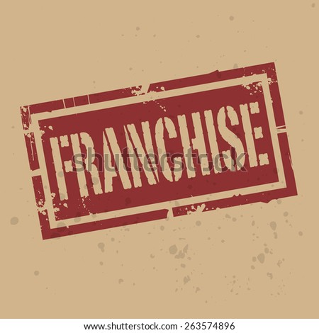 Abstract stamp or label with text Franchise, vector illustration  - stock vector