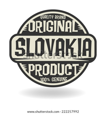 Abstract stamp with text Original Product of Slovakia, vector illustration