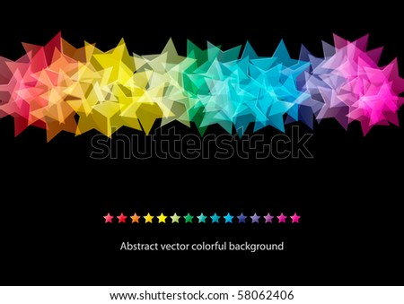 Abstract star colorful background design (eps10) - stock vector