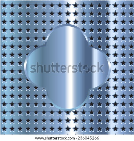 Abstract star metal background - stock vector