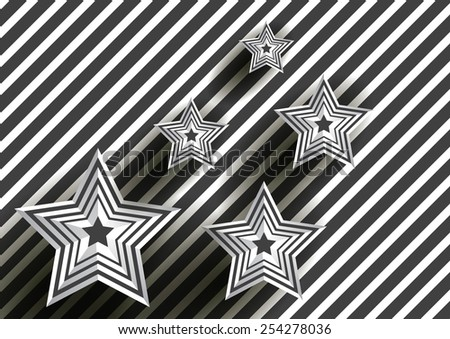 Abstract star on black Diagonal lines  - stock vector